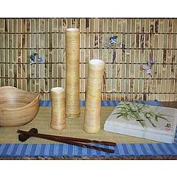 Bamboo Vases and Bowl Set