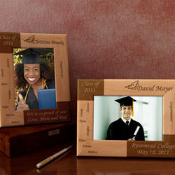Personalized Inspirational Graduate Wooden Picture Frame