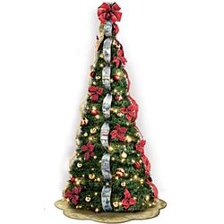 Thomas Kinkade Pre-Lit Pull-Up Christmas Tree