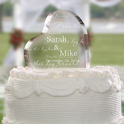 From This Day Forward Personalized Wedding Cake Topper
