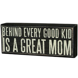 Great Mom Box Sign