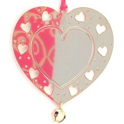 Personalized Goldtone Cut-Out Heart Ornament