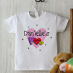 Personalized Baby's First Valentine's Day T-Shirt
