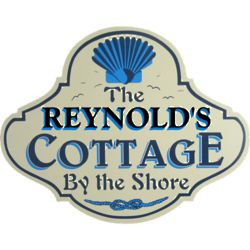 Cottage by the Shore Personalized Wall Sign