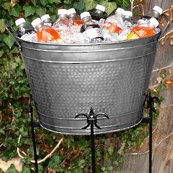 Hammered Tin Beverage Tub