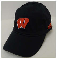 Wisconsin Men's Black Flex Fit Baseball Cap