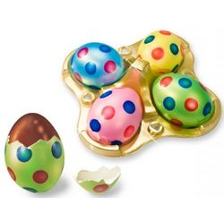 Chocolate Truffle Easter Eggs with Polka Dots