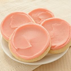 Flavor of the Month Buttercream Frosted Strawberry Sugar Cookies