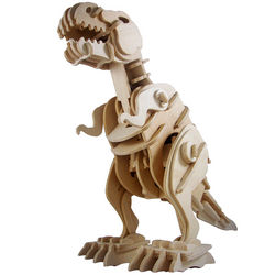 Radio Controlled Wooden T-Rex Puzzle