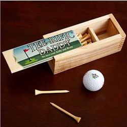 Personalized Tee-Rific Golf Ball and Tee Box Set