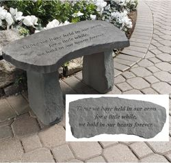Memorial Garden Bench Those We Have Held in Our Arms