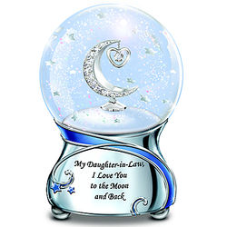 Daughter in Law Musical Glitter Globe with Swarovski Crystal
