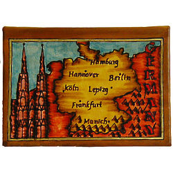 Map of Germany Leather Photo Album
