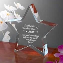 Personalized You Shine Like a Star Keepsake