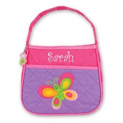 Personalized Quilted Little Girl Butterfly Purse