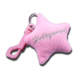 Pink Plush Star Keychain