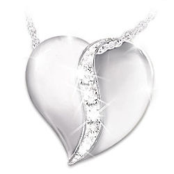 My Precious Daughter Heart-Shaped Engraved Diamond Necklace