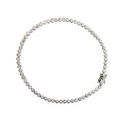 Tiffany Style Round Bezel Set CZ Bubbles Anklet