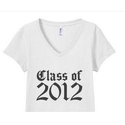 Class of 2012 Classic Junior Fit V-Neck T-shirt