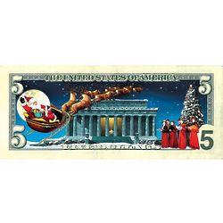 Jingle Bucks Colorized Five Dollar Bill