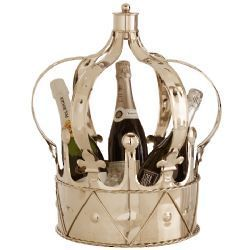 Anne Metal Crown Champagne Bucket
