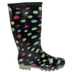 Women's Multi Colored Polka Dot Rain Boots