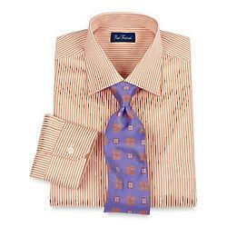 Raised Satin Bengal Stripe Men's Dress Shirt