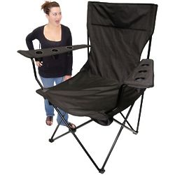 Black Kingpin Giant Tailgating Chair