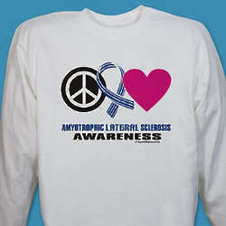 Peace Hope Love ALS Awareness Long Sleeve Shirt