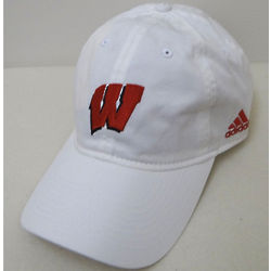 Wisconsin Men's White Slouch Baseball Cap