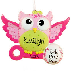 Owl Baby Girl Ornament