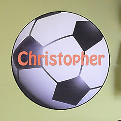 Personalized Soccer Wall Decal