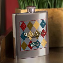 Bridal Party Wingman's Engraved Flask