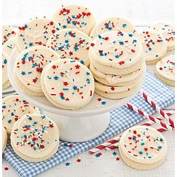Buttercream Frosted Patriotic Cut-Out Cookies