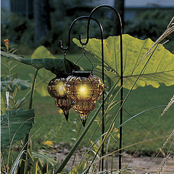 Amber Sunset Solar Lanterns with Stakes