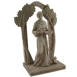 St. Francis Arched Garden Figurine