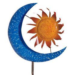 Orange Sun and Blue Moon Metal Wind Spinner