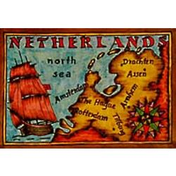 Map of the Netherlands Leather Photo Album