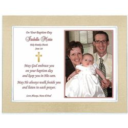 Your Baptism Day Personalized Framed Poem