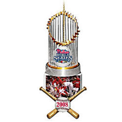 2008 World Series Champions Philadelphia Phillies Trophy Ornament
