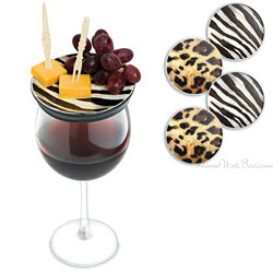 Call of the Wild Wine Glass Appetizer Plates