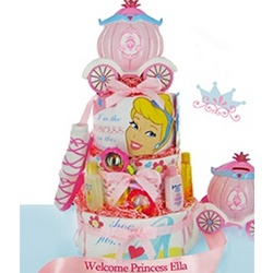 Disney Princess 3 Tier Diaper Cake
