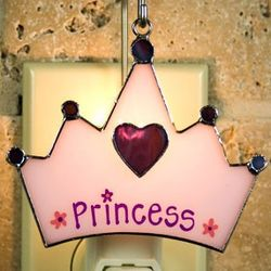 Princess Hat Stained Glass Switchable Ornament