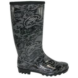 Henry Ferrera Lace Design Rain Boots