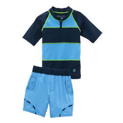 Toddler Boy's Surfer Dude Swim Set UPF 50+