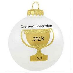 Personalized Trophy Glass Ball Christmas Ornament