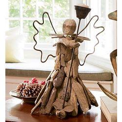 Driftwood Angel Tealight Holder