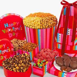 Valentine's Day Big Bright Hugs 6-Tier Tower