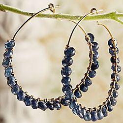 Water Sapphire Earrings