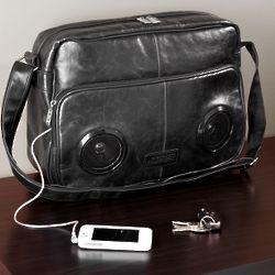 Rock My Way Black Speaker Messenger Bag